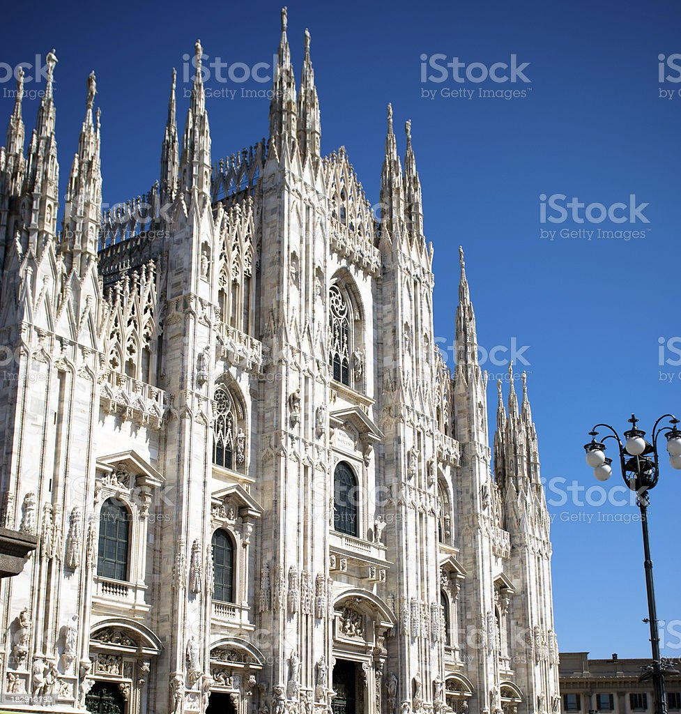 Milan Cathedral Dome from the place - Italy. royalty-free stock photo