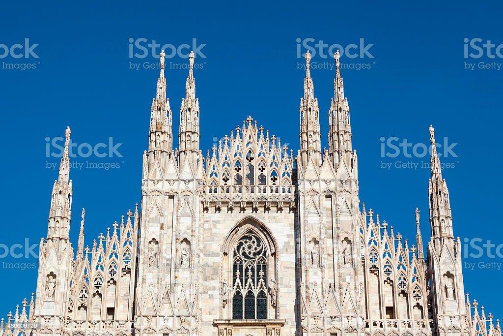 Milan Cathedral facade stock photo
