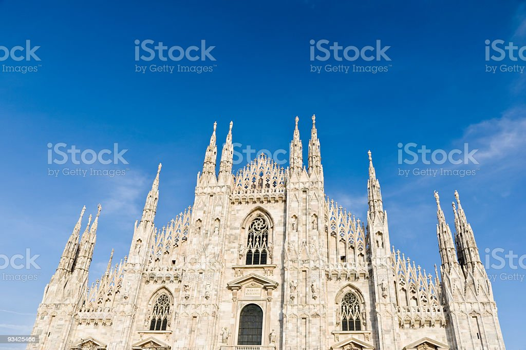 Milan Cathedral Facade stock photo
