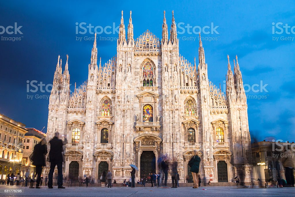 Milan Cathedral from the Square stock photo