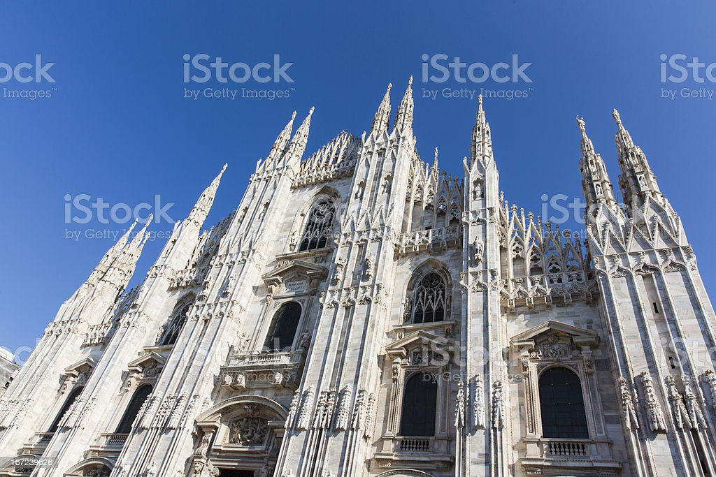 Milan Cathedral in Italy stock photo
