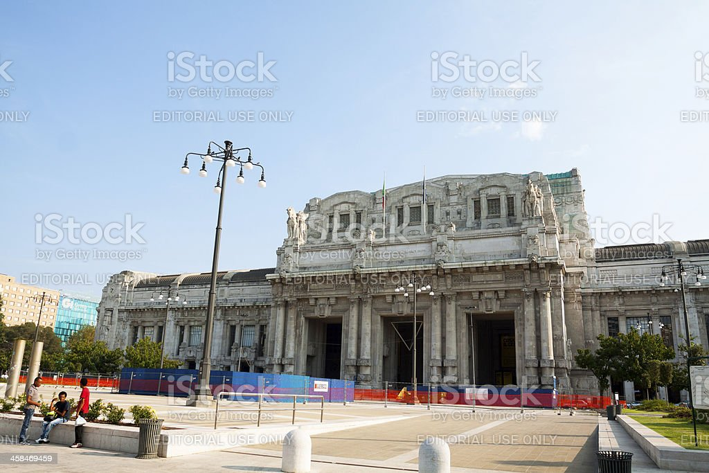 Station Milan Centrale royalty-free stock photo