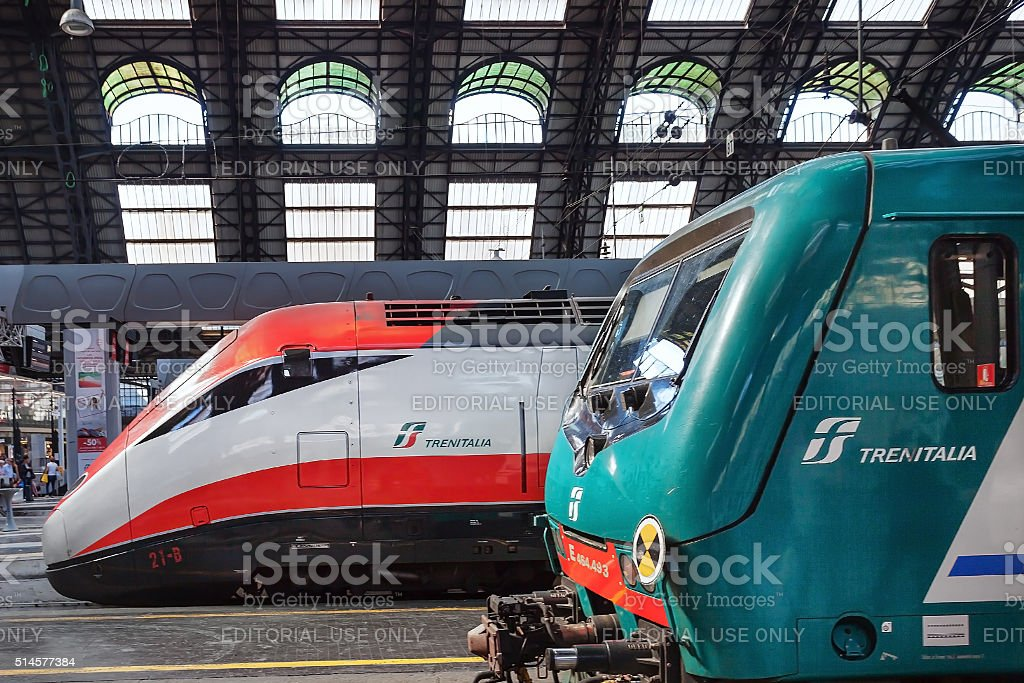 Milan Central Station - train stock photo