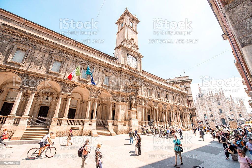 Milan city center stock photo