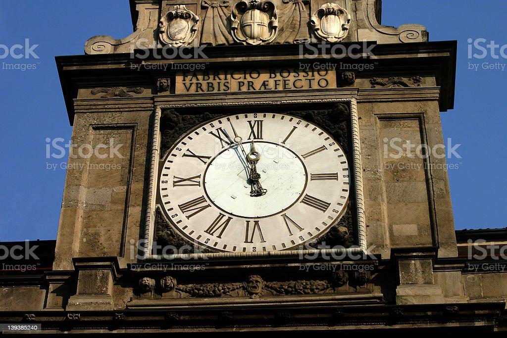 Milan Clock royalty-free stock photo