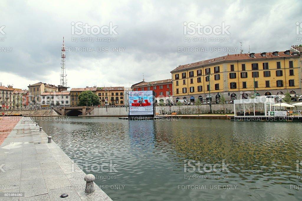 Milan Darsena stock photo