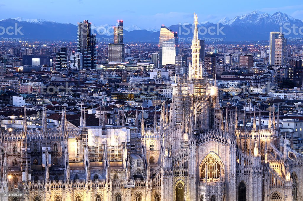 Milan Duomo Cathedral stock photo