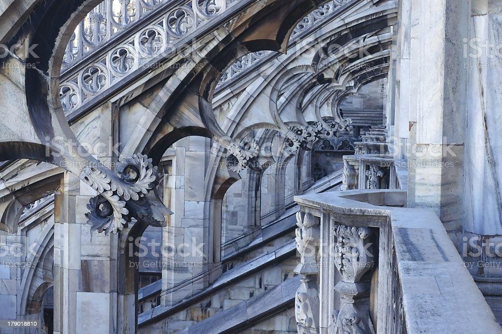 Milan. Duomo roof royalty-free stock photo