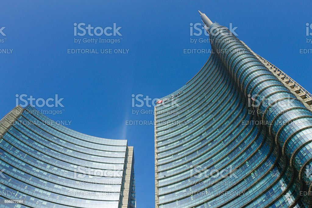 Milan, Italy, Financial district view stock photo