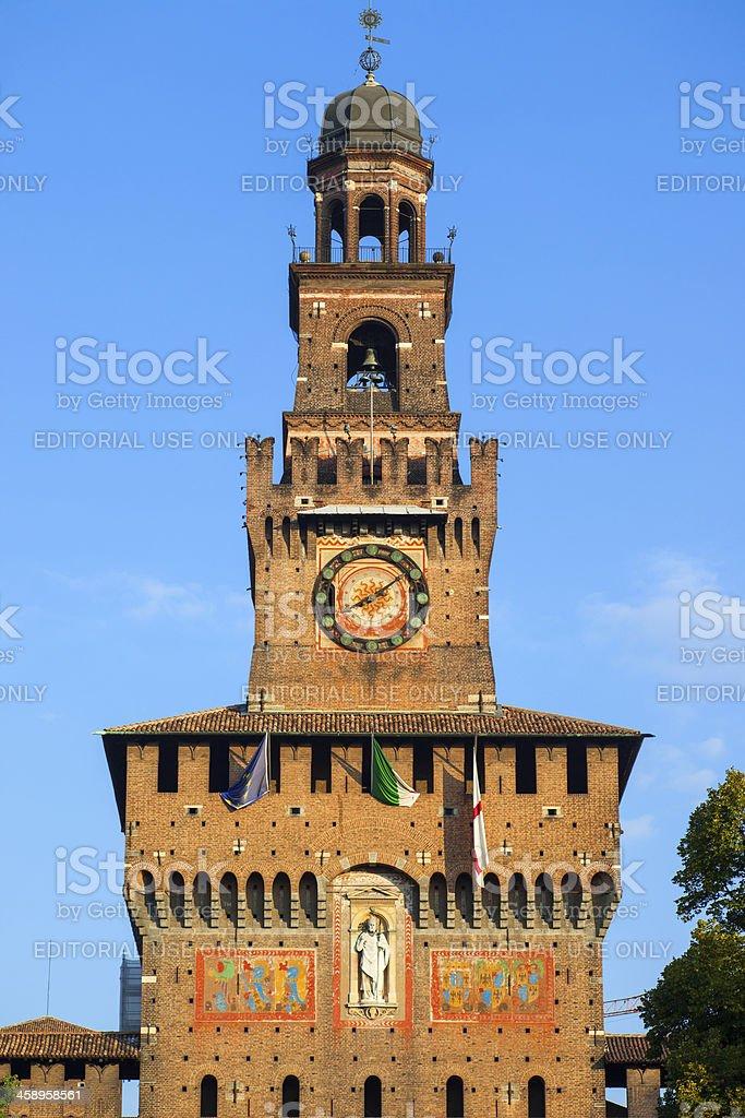 Milan, Italy, Sforza Castle stock photo