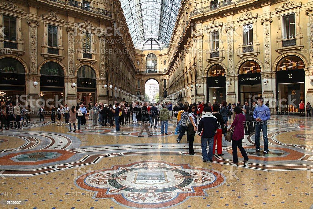 Milan luxury shopping royalty-free stock photo