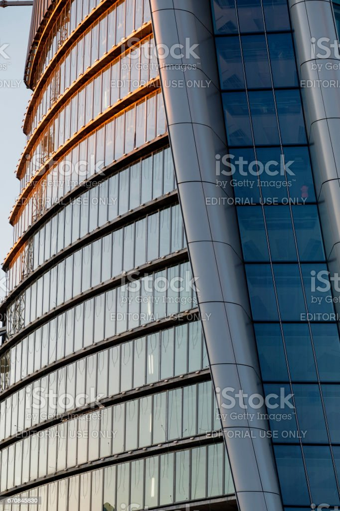 Milan (Italy), modern building in Citylife stock photo