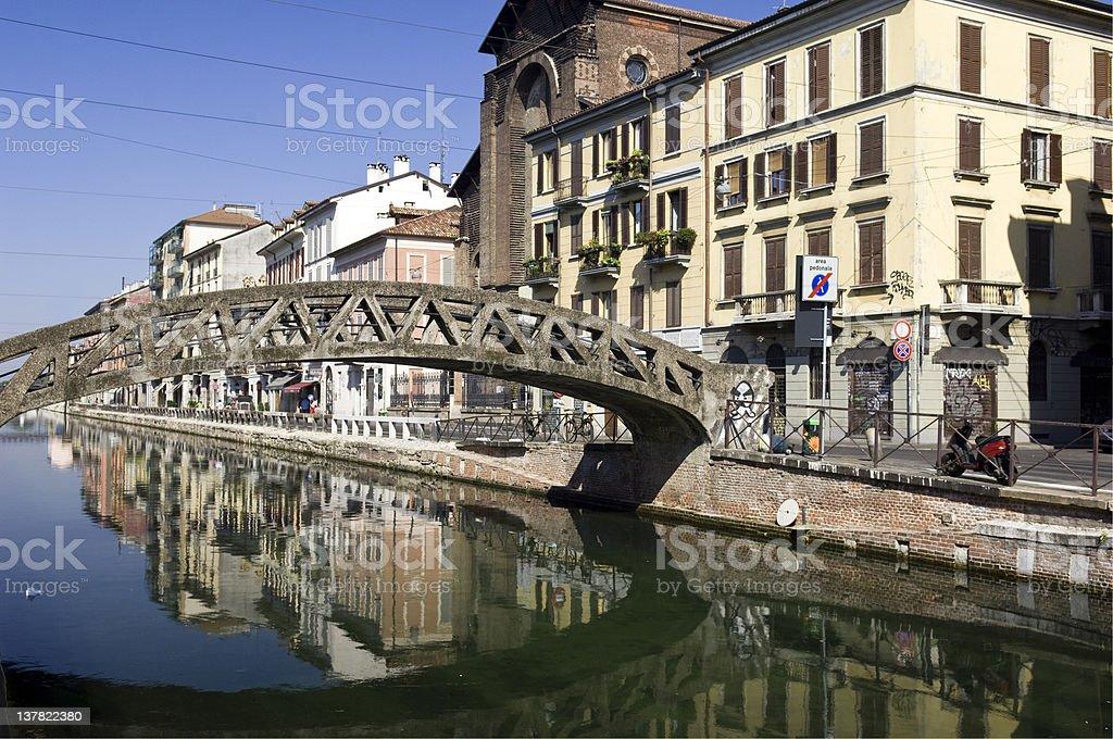 Milan - Naviglio. Color Image royalty-free stock photo