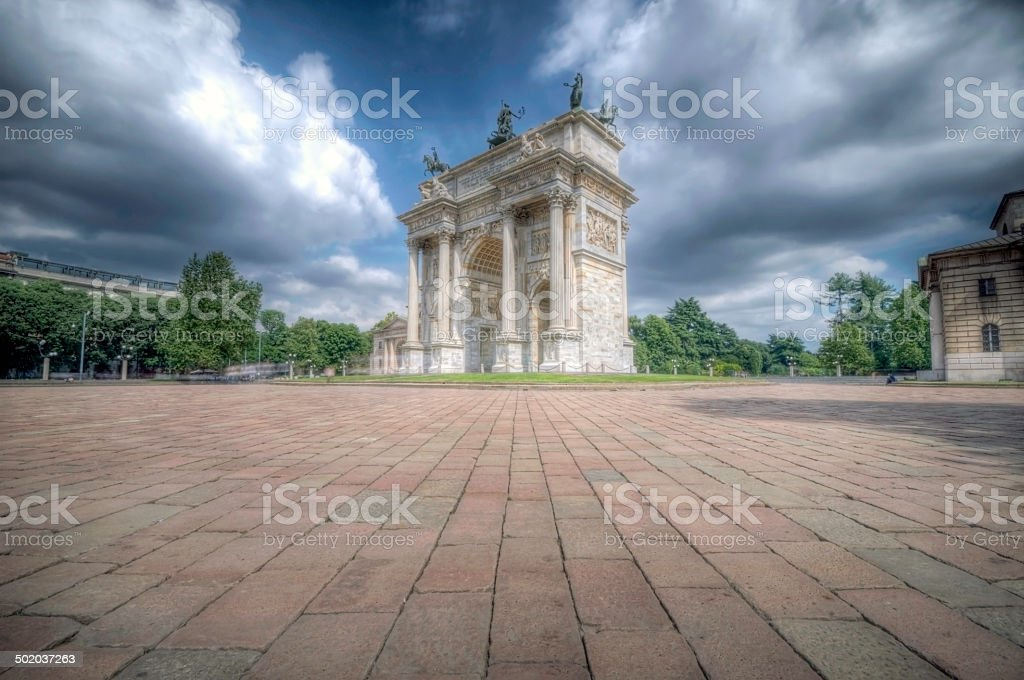 Milan, Peace Arch stock photo