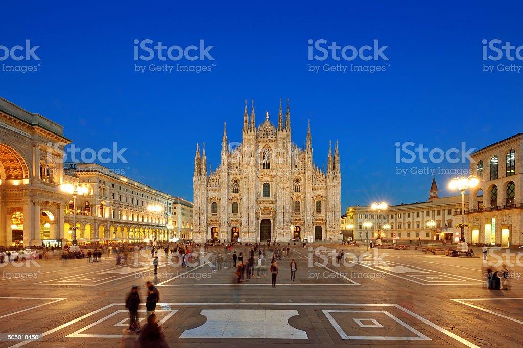 Milan Piazza Del Duomo, Italy stock photo