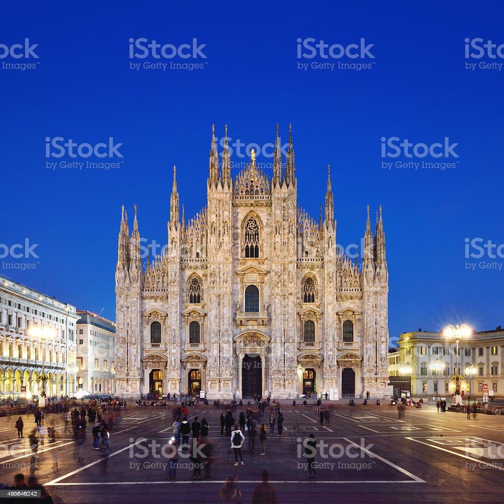 Milan Piazza Del Duomo stock photo