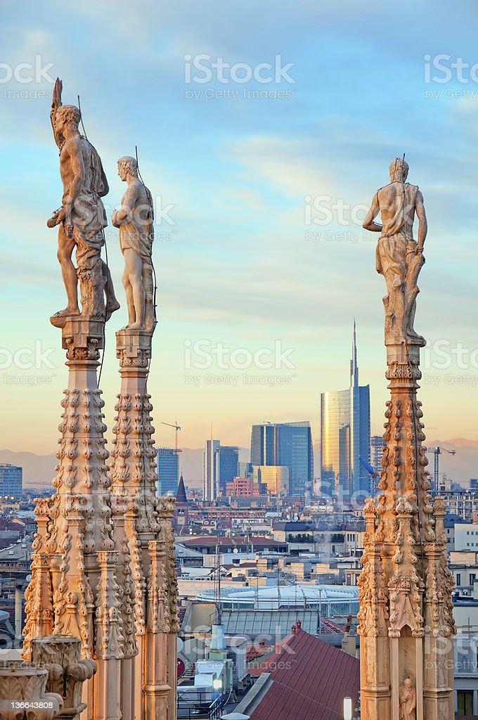 "Milan skyline from   (""Duomo di Milano""). Italy. stock photo"