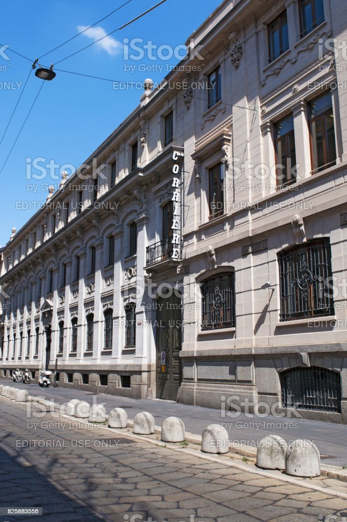 Milan: view of Corriere della Sera, the most important Italian daily newspaper stock photo