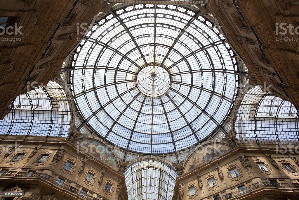 Milan Vittorio Emanuele Gallery royalty-free stock photo