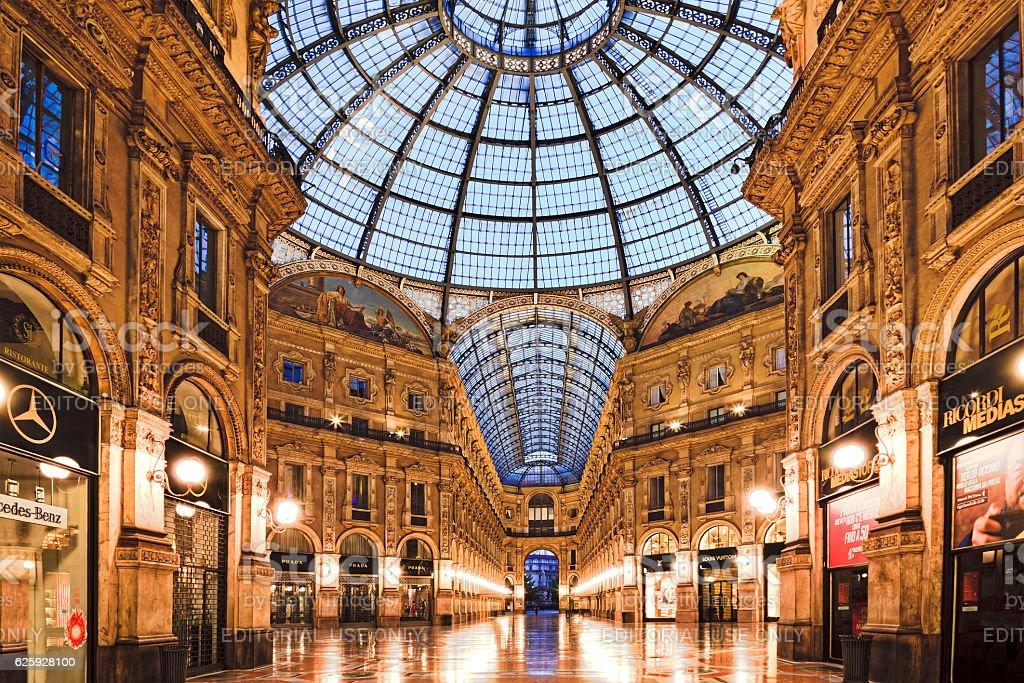 Milan Vittorio Gallery Inside stock photo
