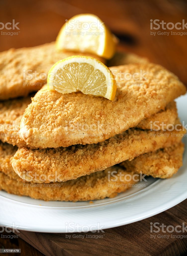 Milanese cutlet stock photo