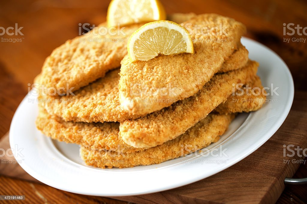 Milanese cutlet royalty-free stock photo
