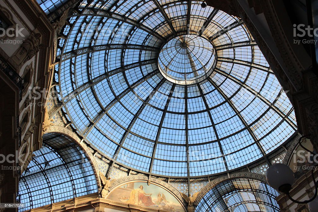 Milano Blue Sky: Galleria Vittorio Emanuele II stock photo