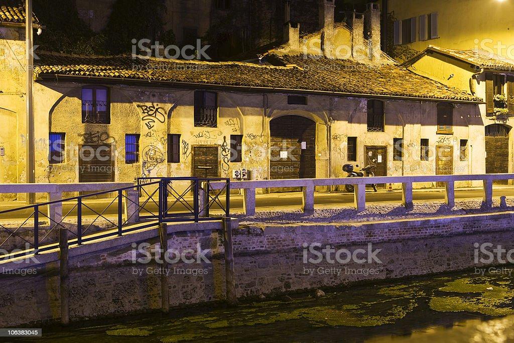 Milano by night royalty-free stock photo