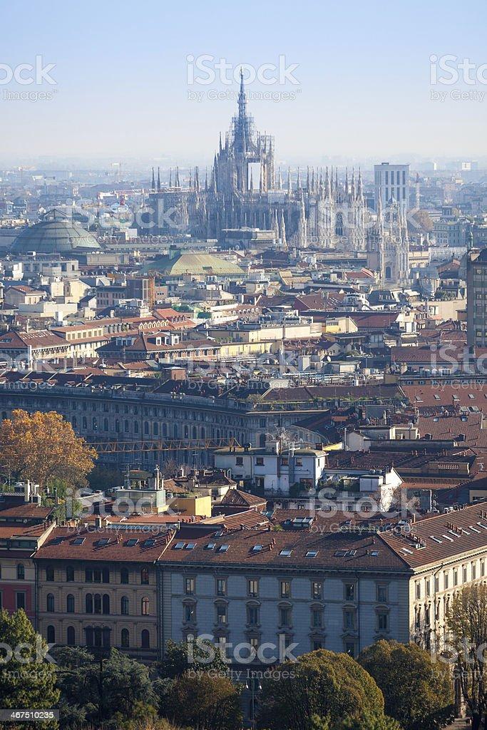 Milano Duomo  Panorama stock photo