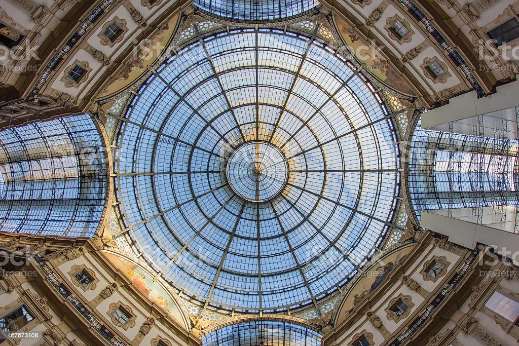 Milano - galleria Vittorio Emanuele II stock photo