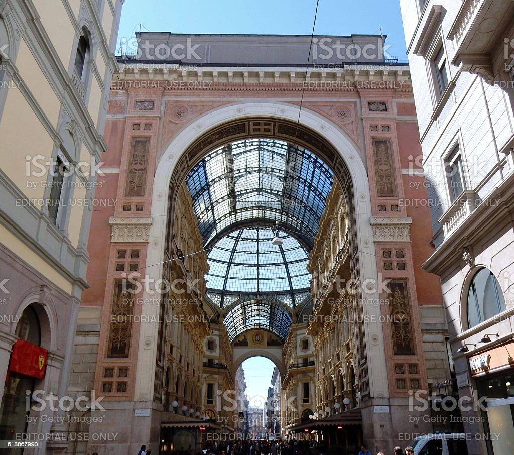 Milano - Ingresso laterale della Galleria stock photo