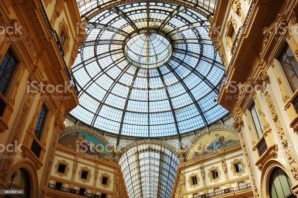 Milano - Italy, Galleria Vittorio Emanuele II stock photo