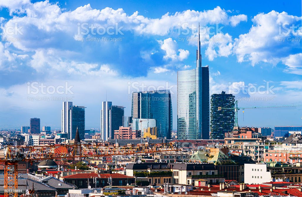 Milano skyline stock photo