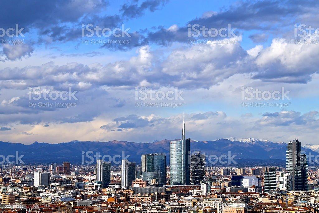Milano the new skyline stock photo
