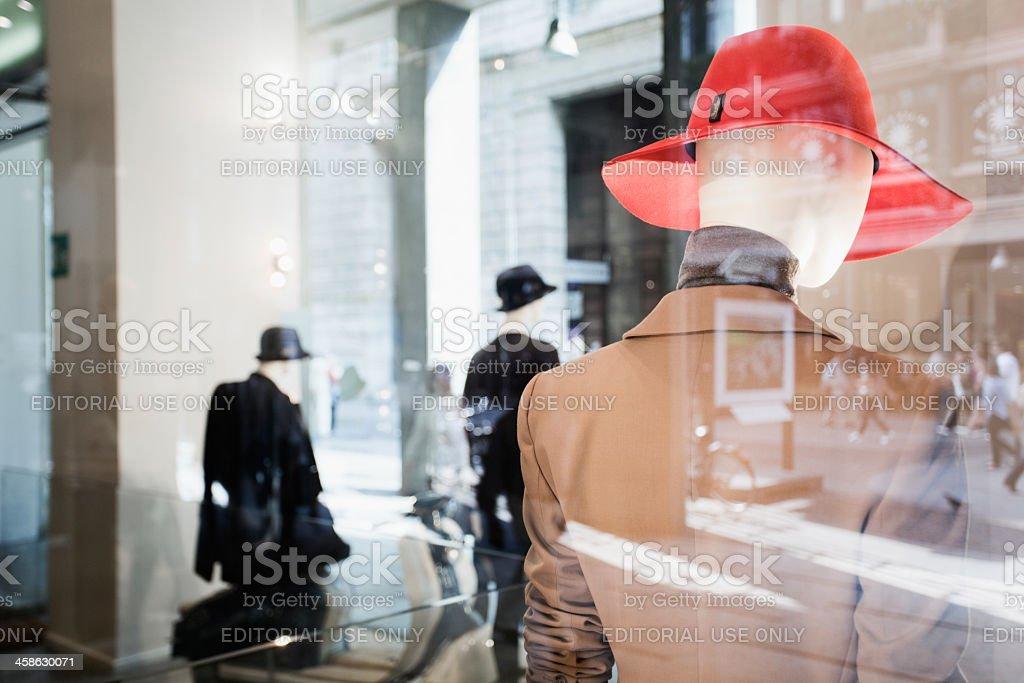 Milan's women's fashion Shop stock photo