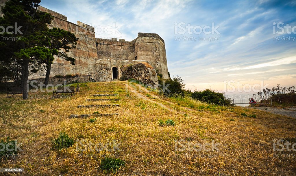 Milazzo Castle stock photo