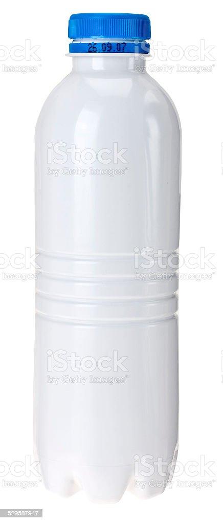 Milch in einer Plastikflasche stock photo