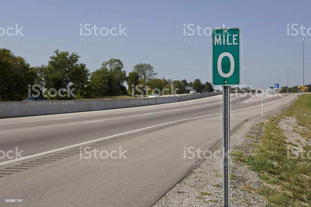 Mile 0 stock photo