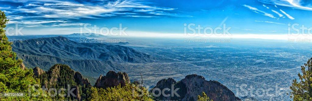 A mile above Albuquerque stock photo