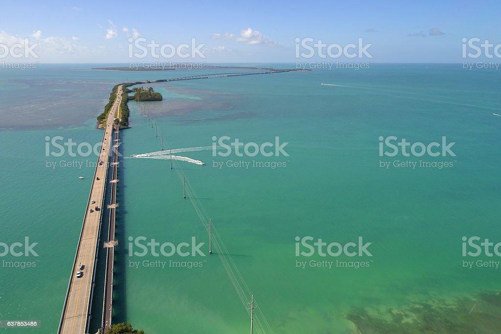 7 mile bridge florida stock photo
