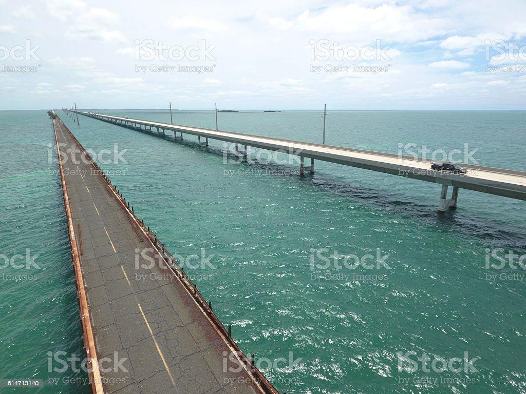 7 Mile Bridge stock photo