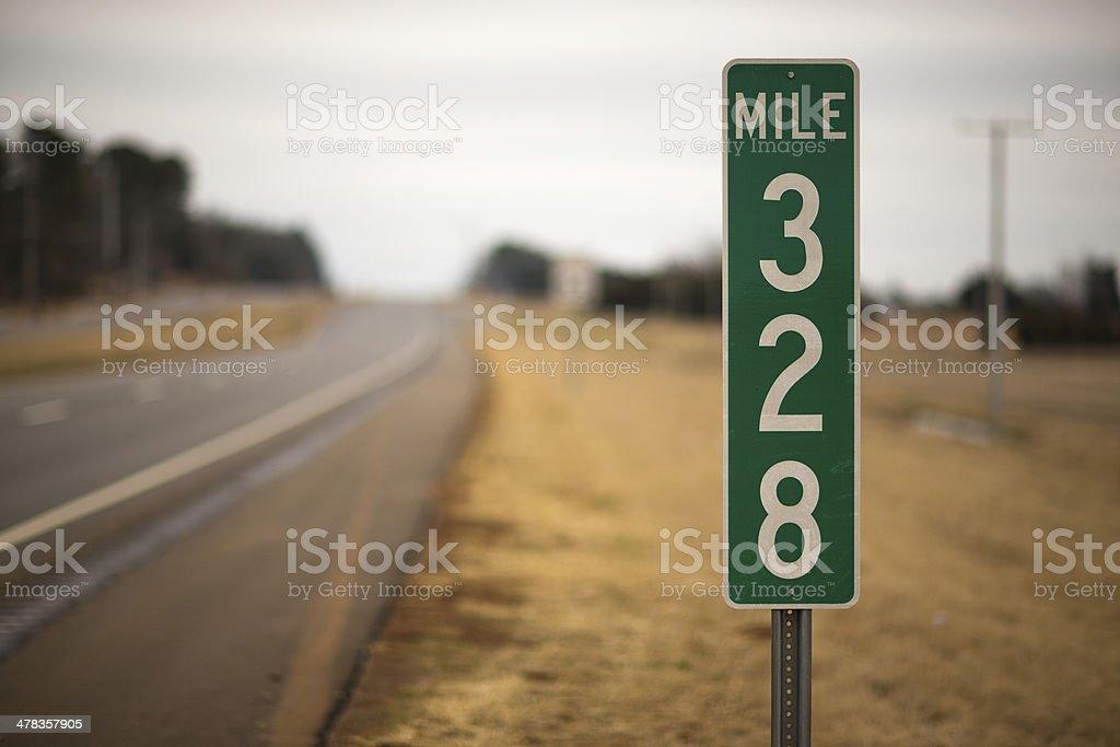 Mile Marker stock photo