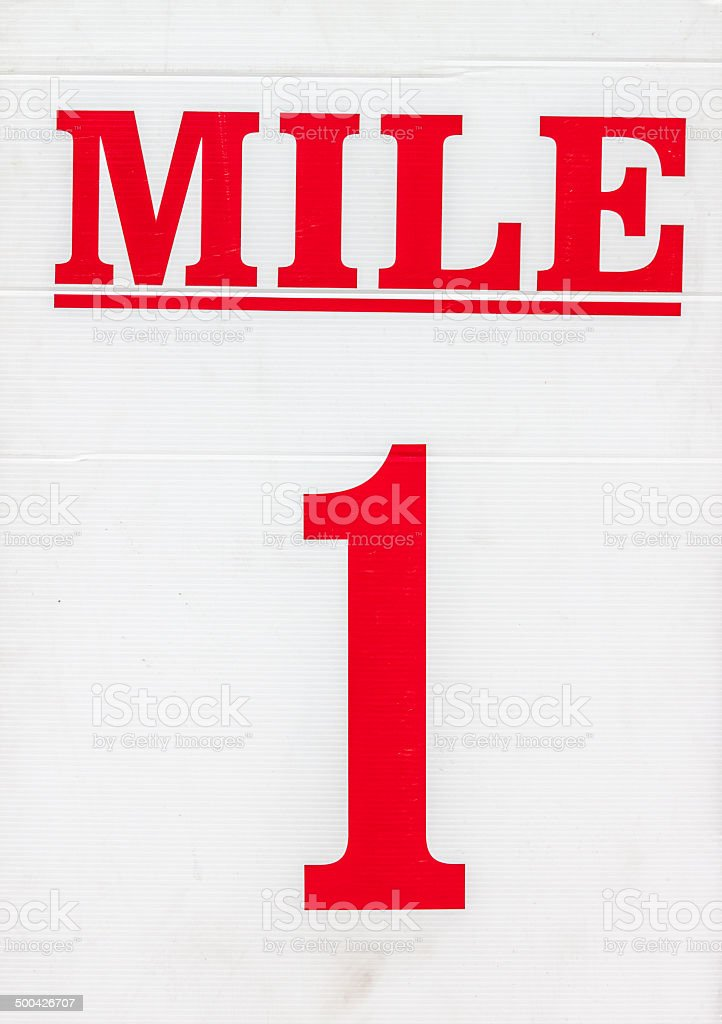 Mile Marker Sign stock photo