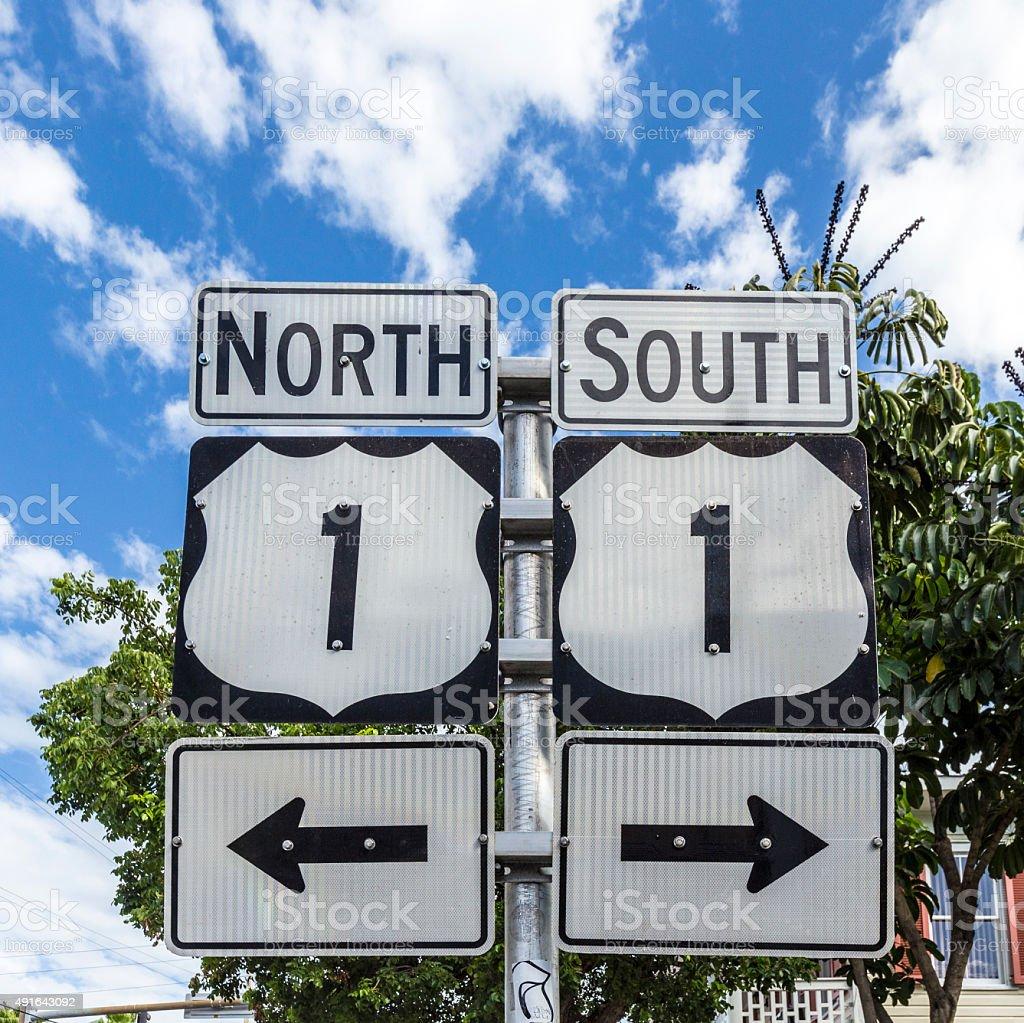 Mile Zero in Key West stock photo