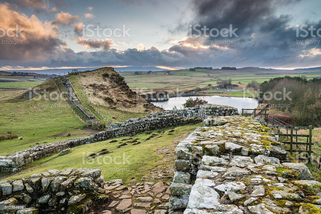 Milecastle 42 on Hadrian's Wall stock photo