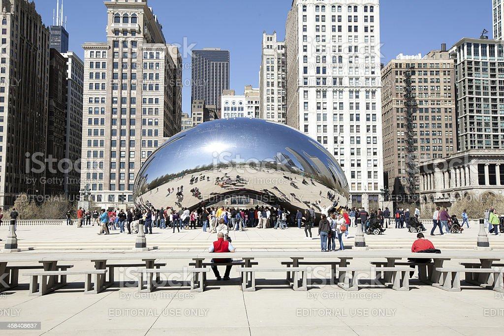 Milennium Park with Cloud Gate, Chicago stock photo