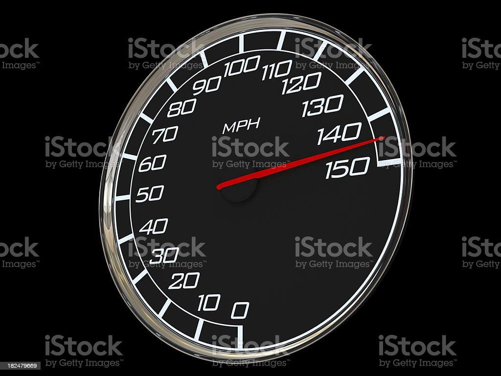Mileometer - highest speed royalty-free stock photo