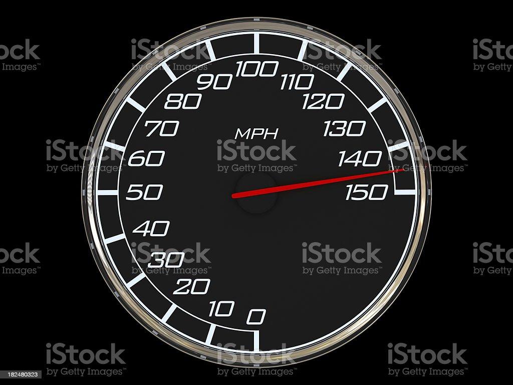 Mileometer - highest speed stock photo