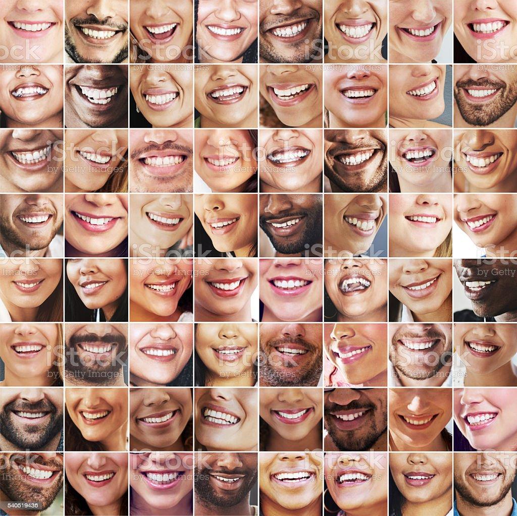 Miles of smiles stock photo