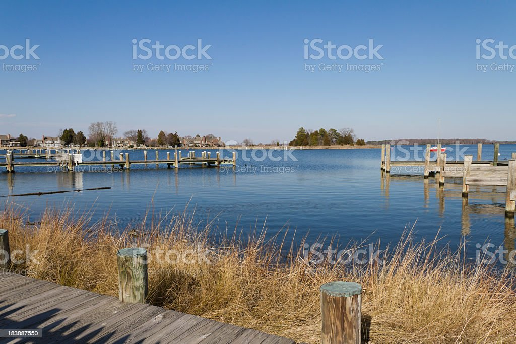 Miles River Scenic View (St. Michaels Maryland) stock photo